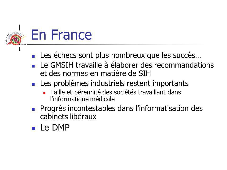 En France Le DMP Les échecs sont plus nombreux que les succès…