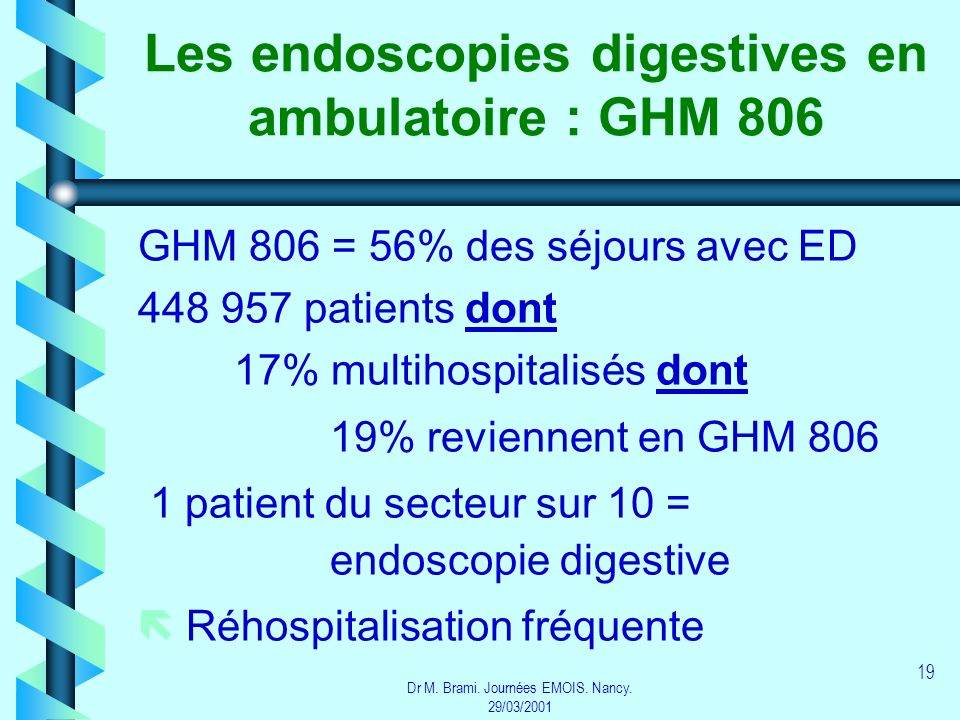 Les endoscopies digestives en ambulatoire : GHM 806