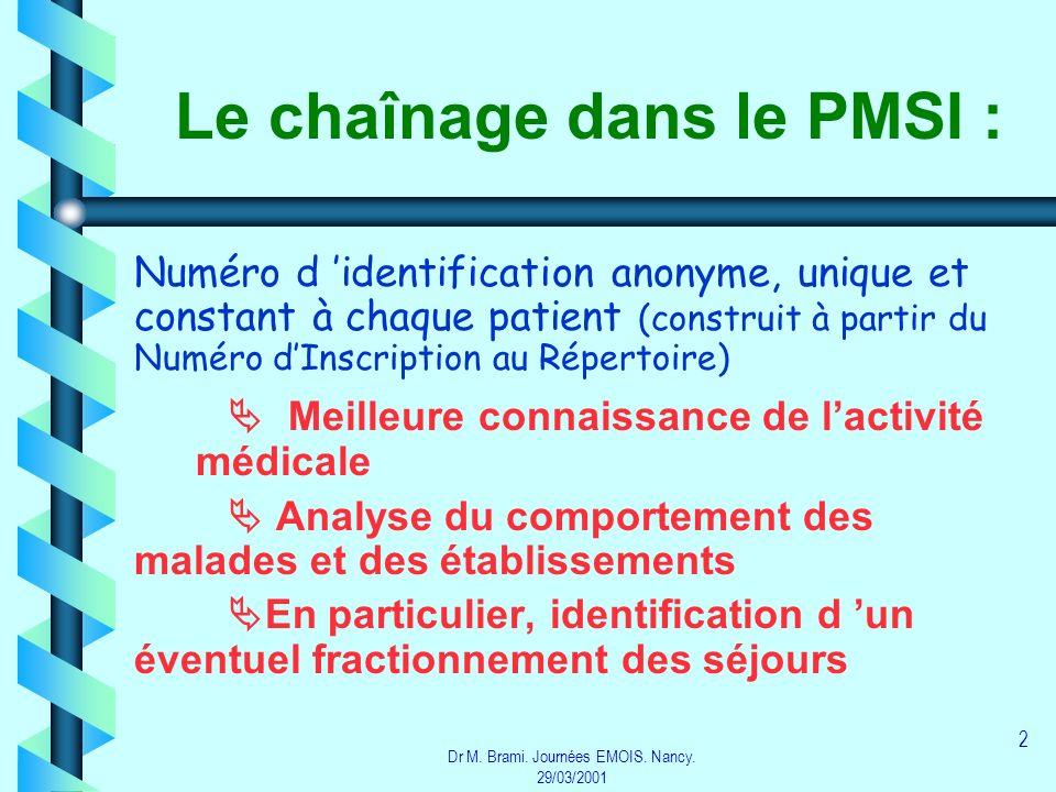 Le chaînage dans le PMSI :