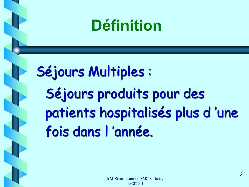 Dr M. Brami. Journées EMOIS. Nancy. 29/03/2001