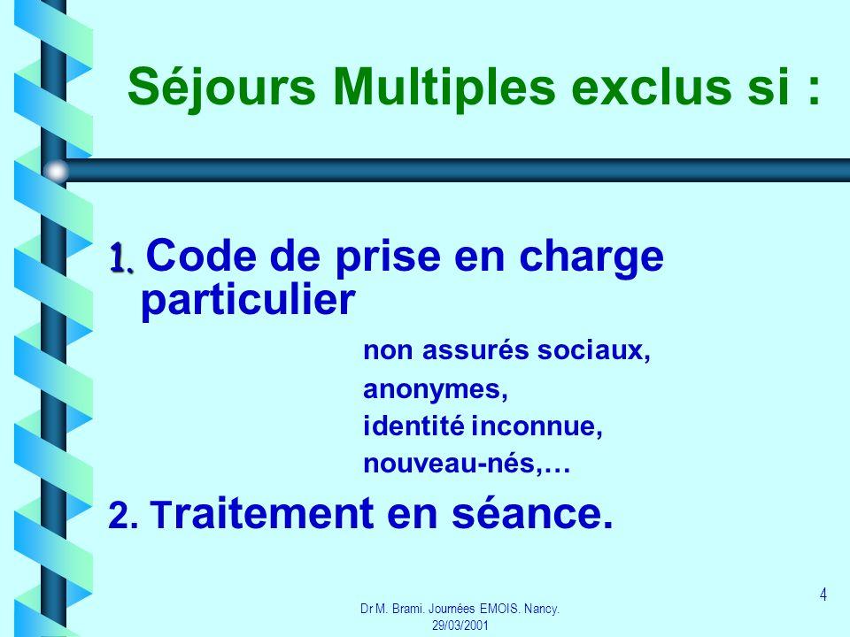 Séjours Multiples exclus si :