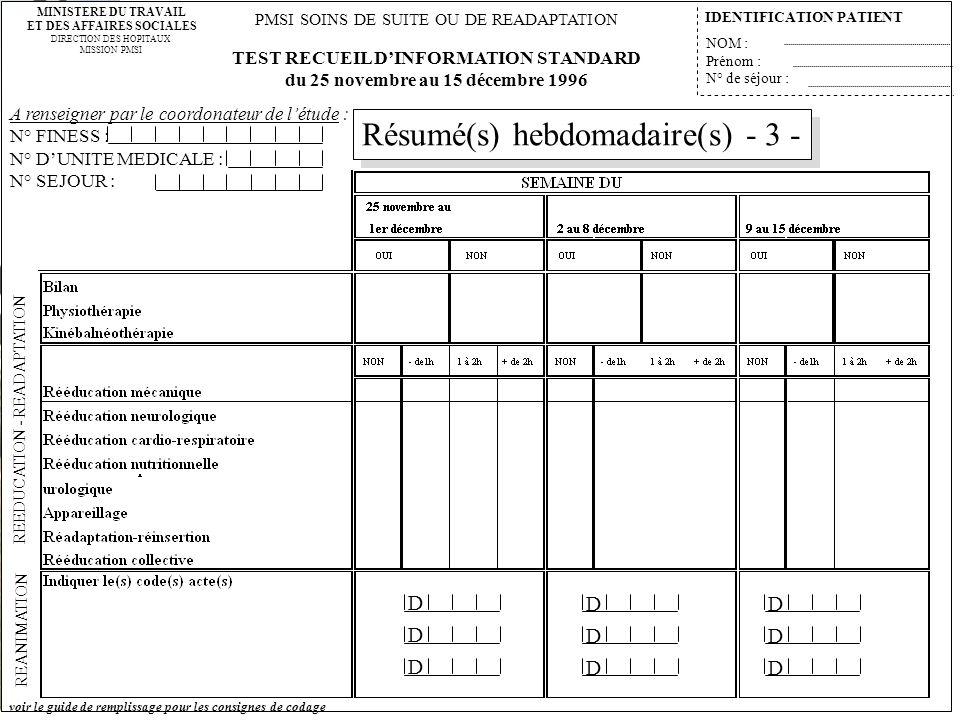 Résumé(s) hebdomadaire(s) - 3 -