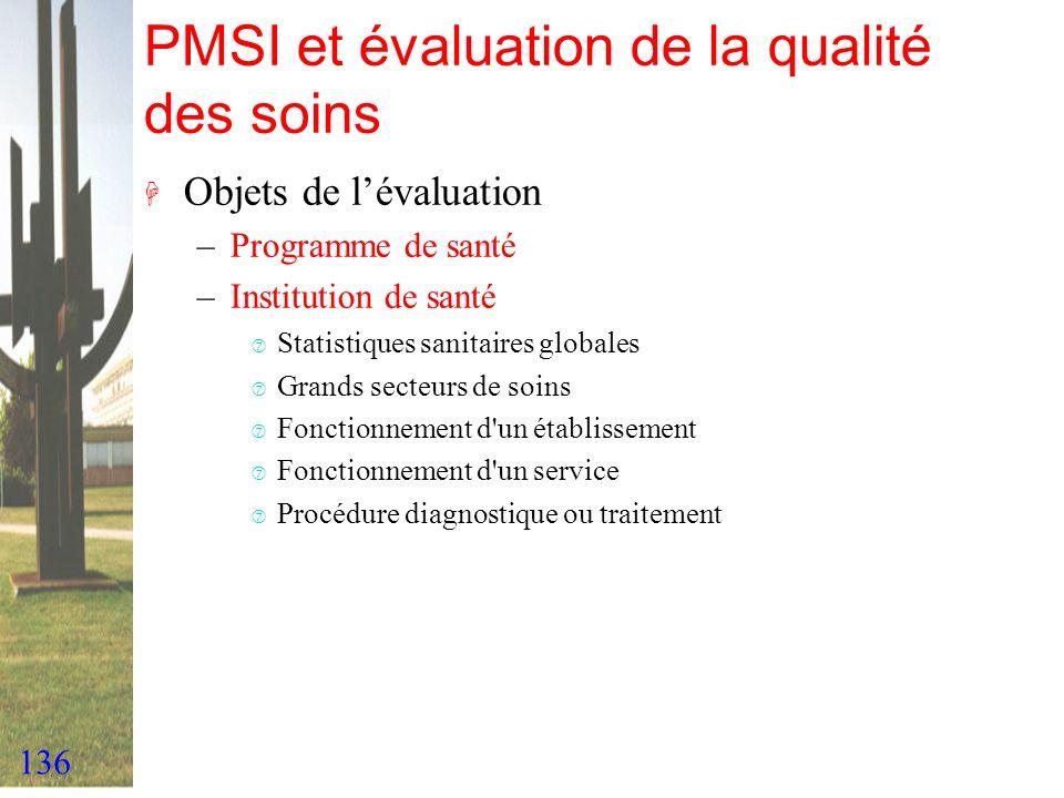 PMSI et évaluation de la qualité des soins