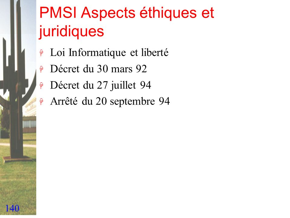 PMSI Aspects éthiques et juridiques