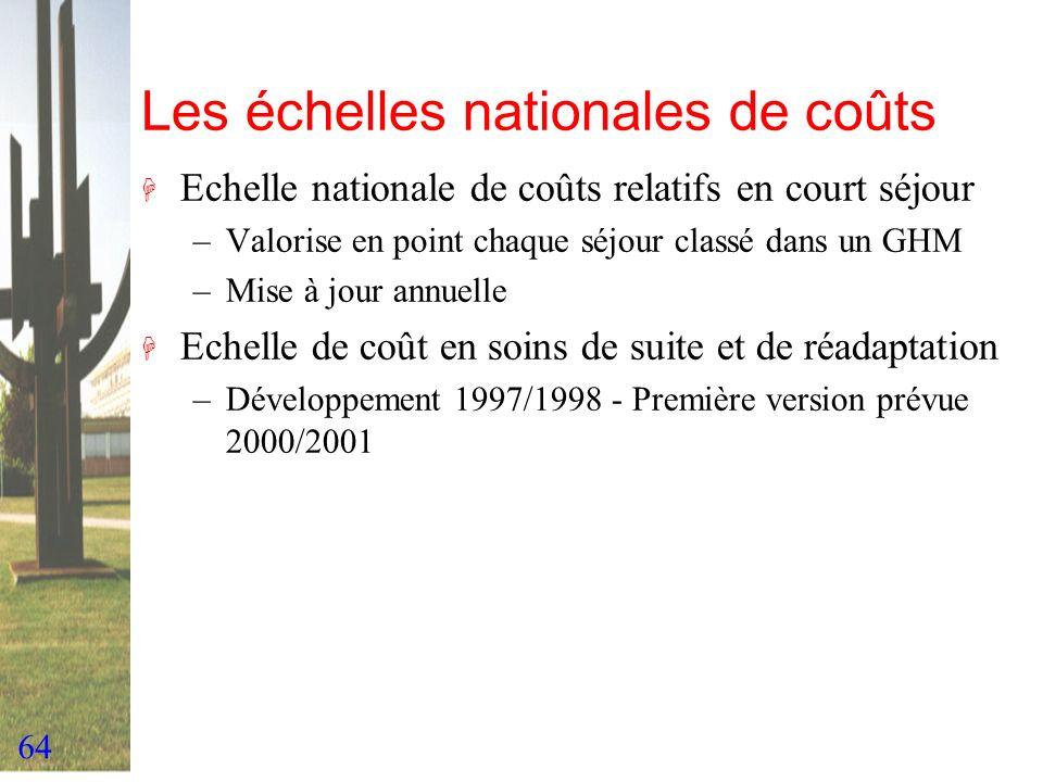 Les échelles nationales de coûts