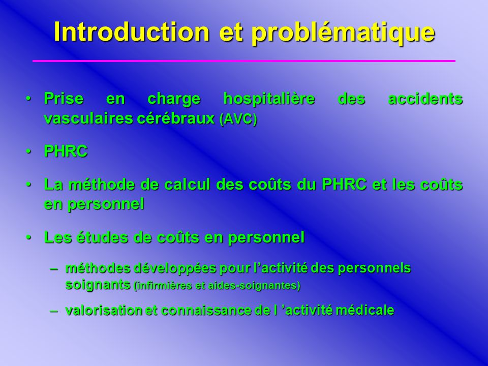 Introduction et problématique