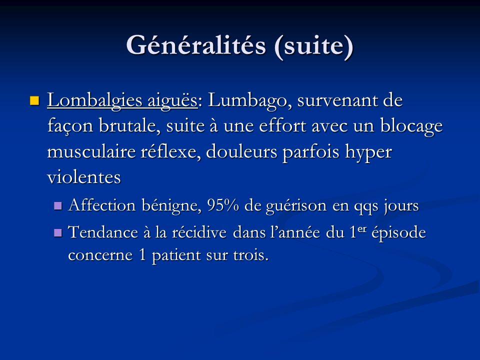 Généralités (suite)
