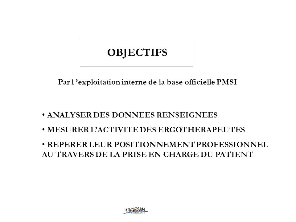 Par l 'exploitation interne de la base officielle PMSI