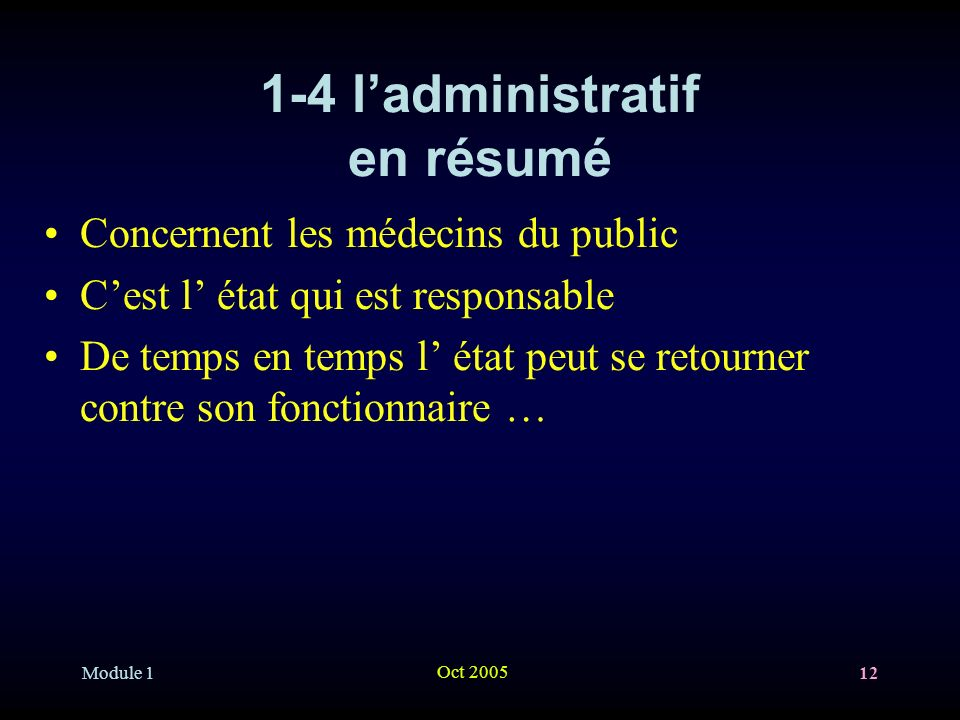 1-4 l'administratif en résumé