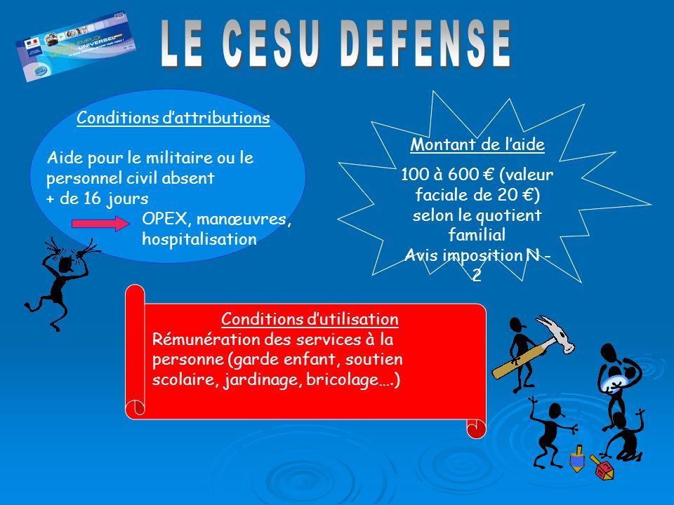 LE CESU DEFENSE Conditions d'attributions