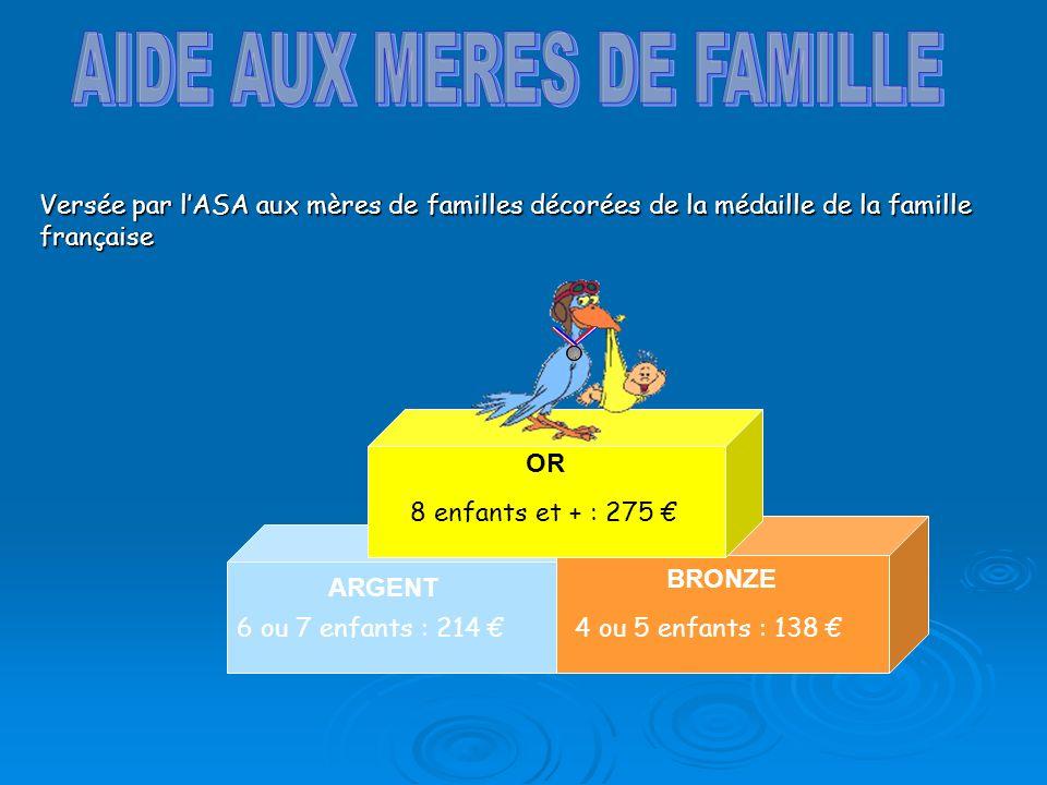 AIDE AUX MERES DE FAMILLE