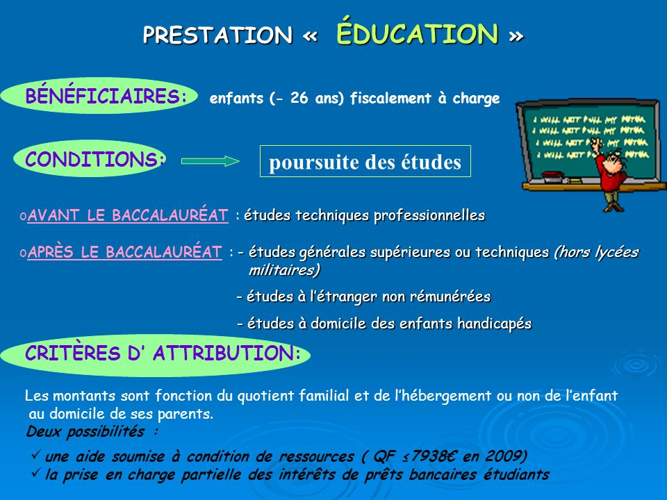 PRESTATION « ÉDUCATION »