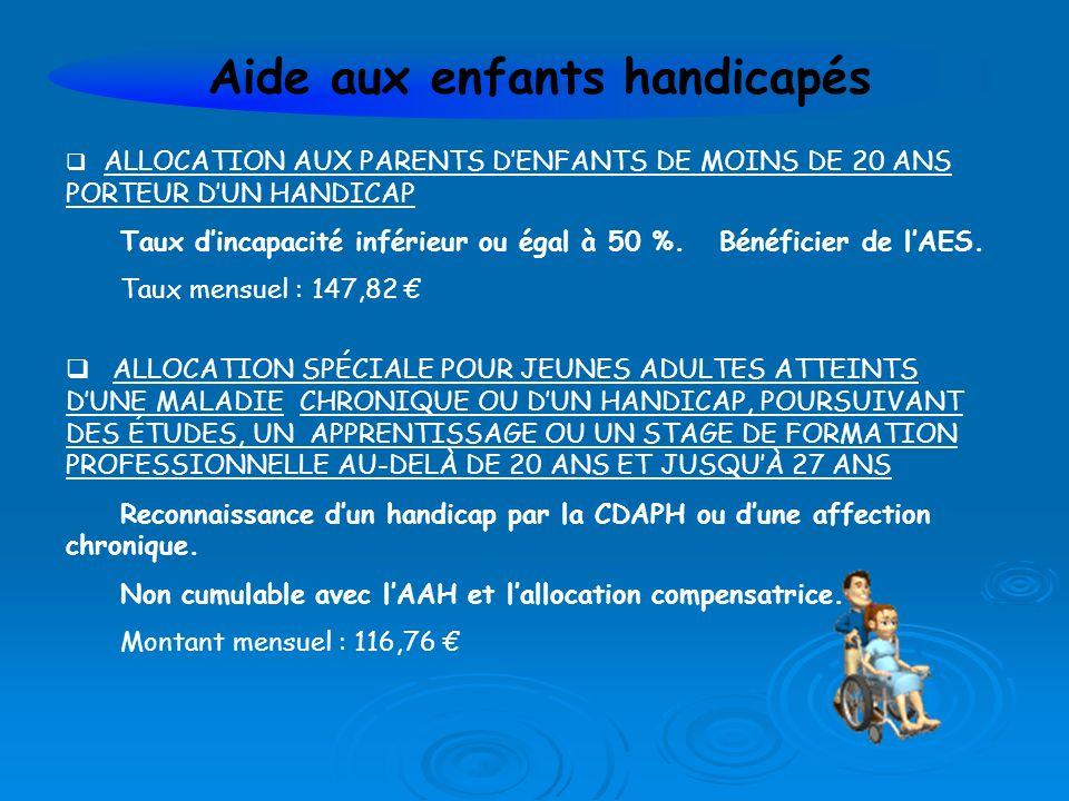 Aide aux enfants handicapés