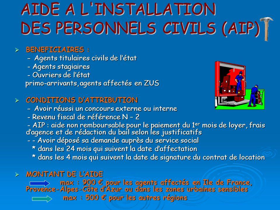 DES PERSONNELS CIVILS (AIP)