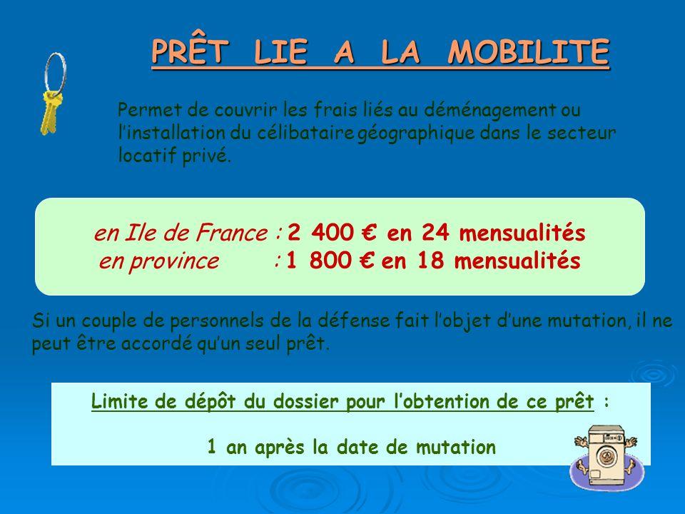 PRÊT LIE A LA MOBILITE en Ile de France : 2 400 € en 24 mensualités