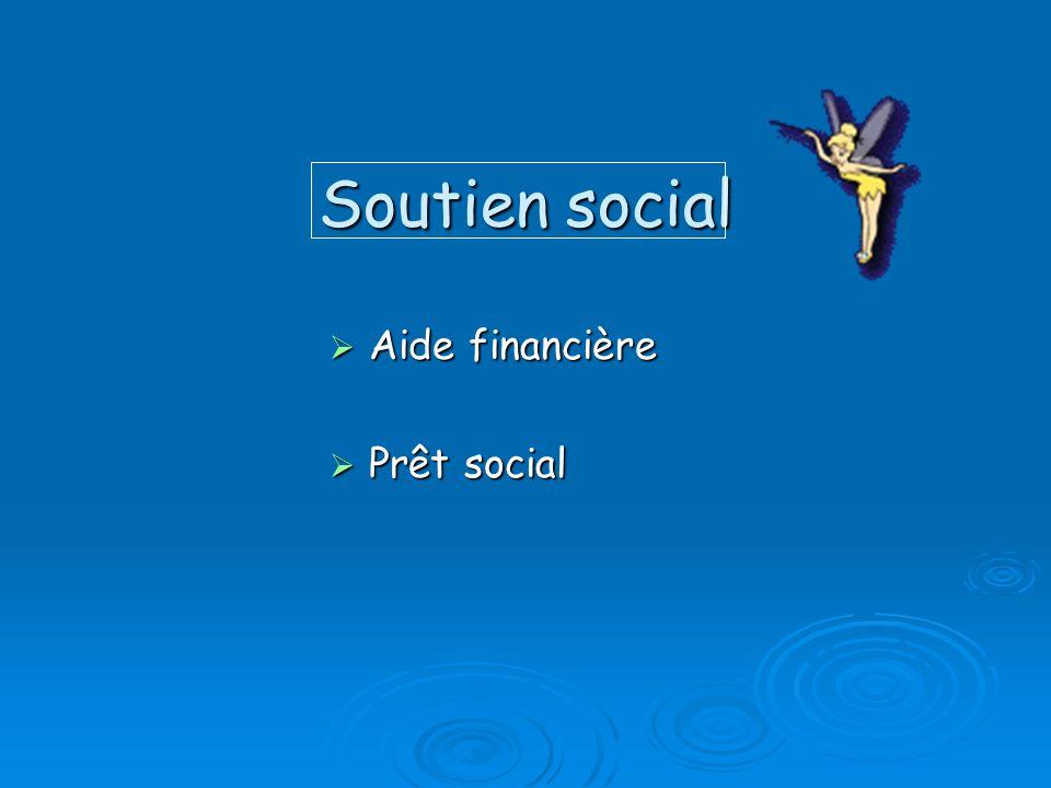 Soutien social Aide financière Prêt social