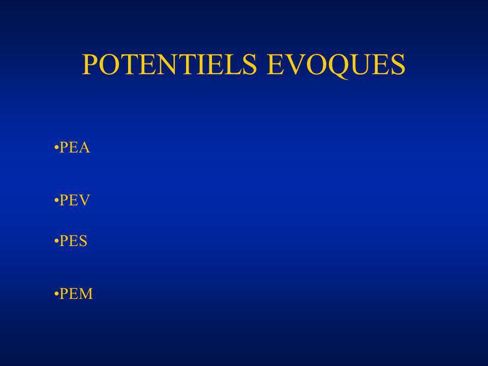 POTENTIELS EVOQUES PEA PEV PES PEM