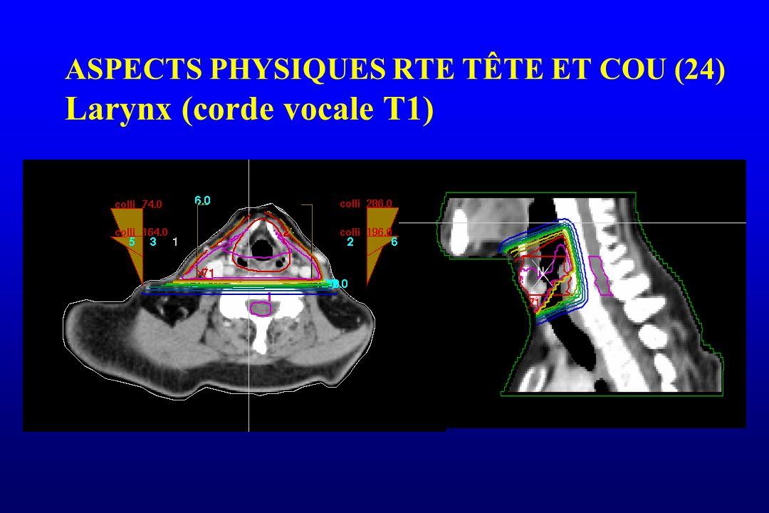 ASPECTS PHYSIQUES RTE TÊTE ET COU (24) Larynx (corde vocale T1)