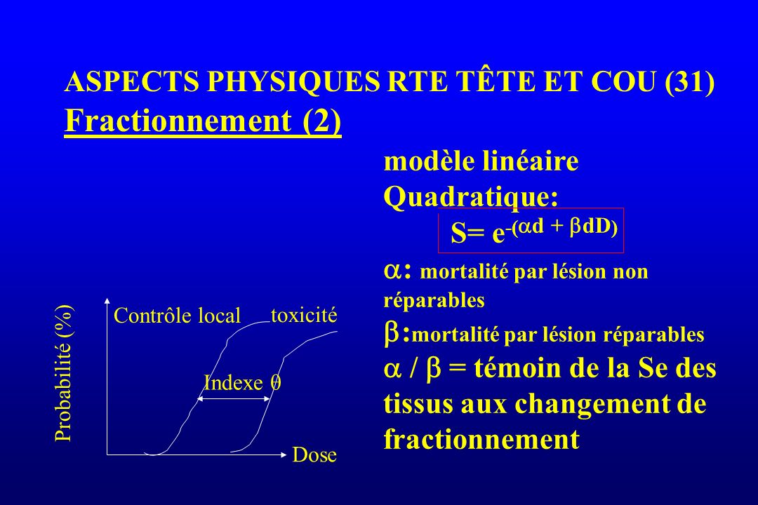 ASPECTS PHYSIQUES RTE TÊTE ET COU (31) Fractionnement (2)