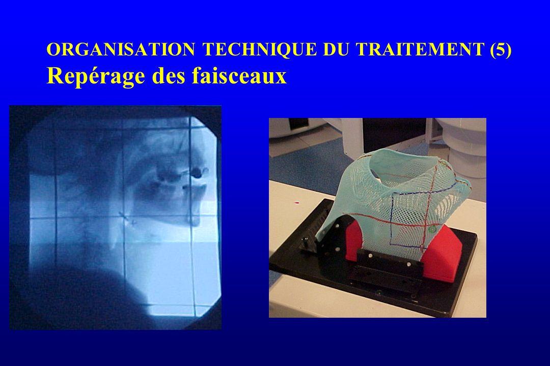 ORGANISATION TECHNIQUE DU TRAITEMENT (5) Repérage des faisceaux