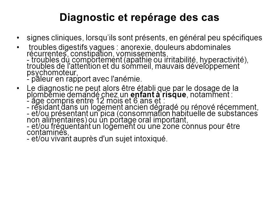 Diagnostic et repérage des cas