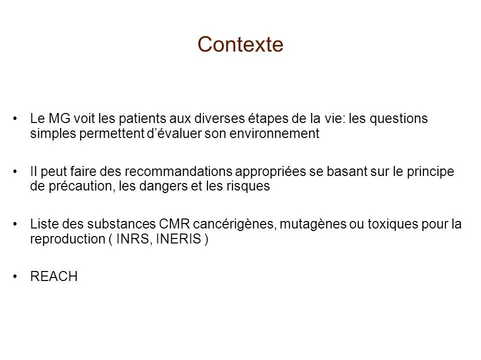 Contexte Le MG voit les patients aux diverses étapes de la vie: les questions simples permettent d'évaluer son environnement.