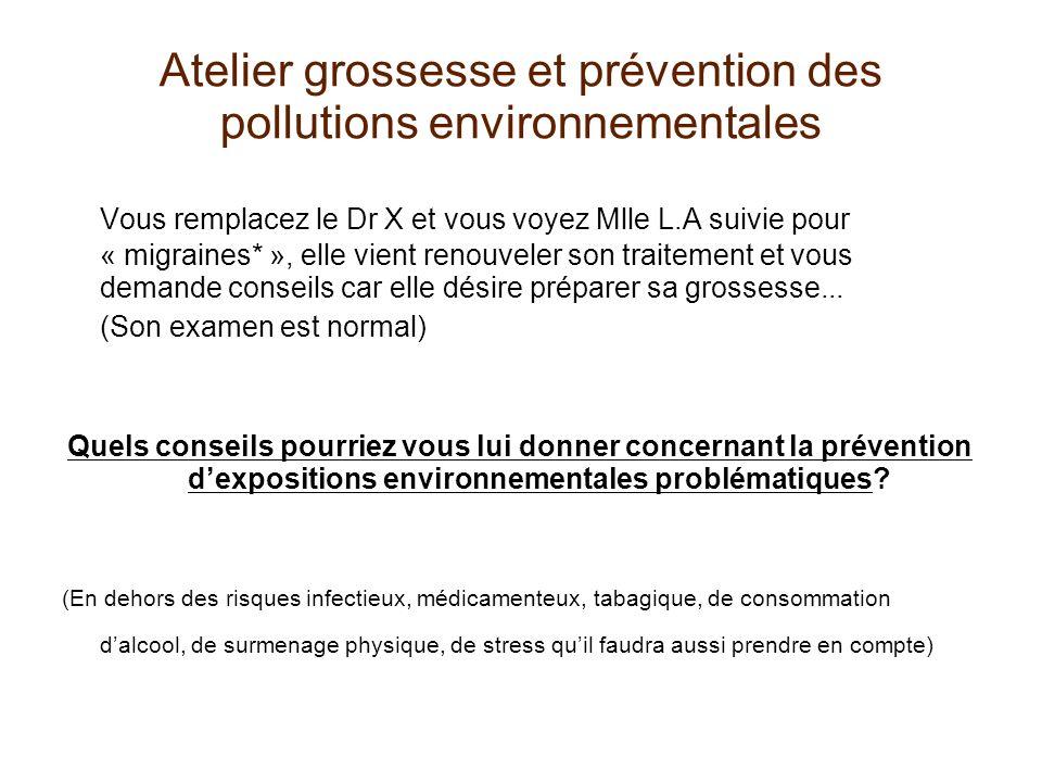 Atelier grossesse et prévention des pollutions environnementales