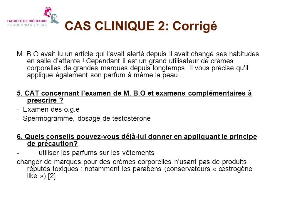 CAS CLINIQUE 2: Corrigé