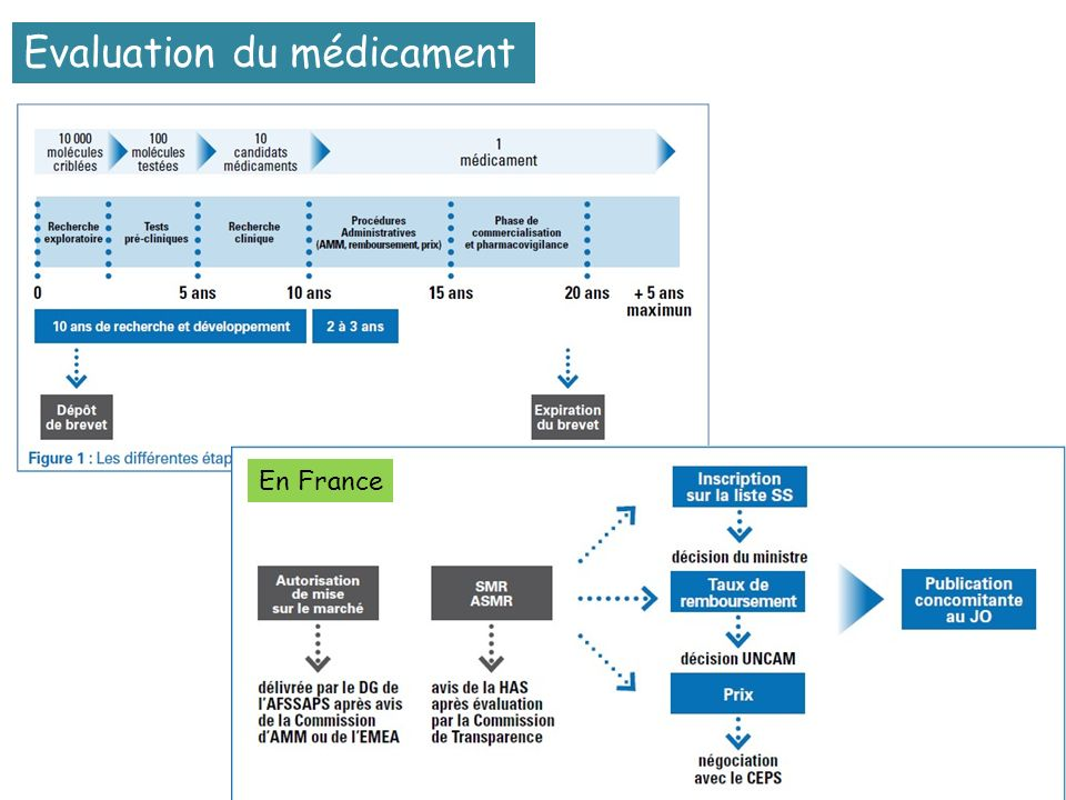 Evaluation du médicament