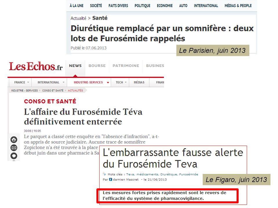 Le Parisien, juin 2013 Le Figaro, juin 2013