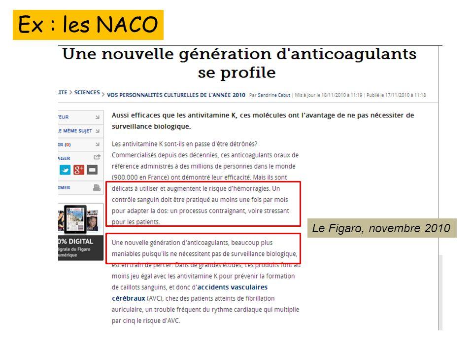 Ex : les NACO Le Figaro, Le Figaro, novembre 2010