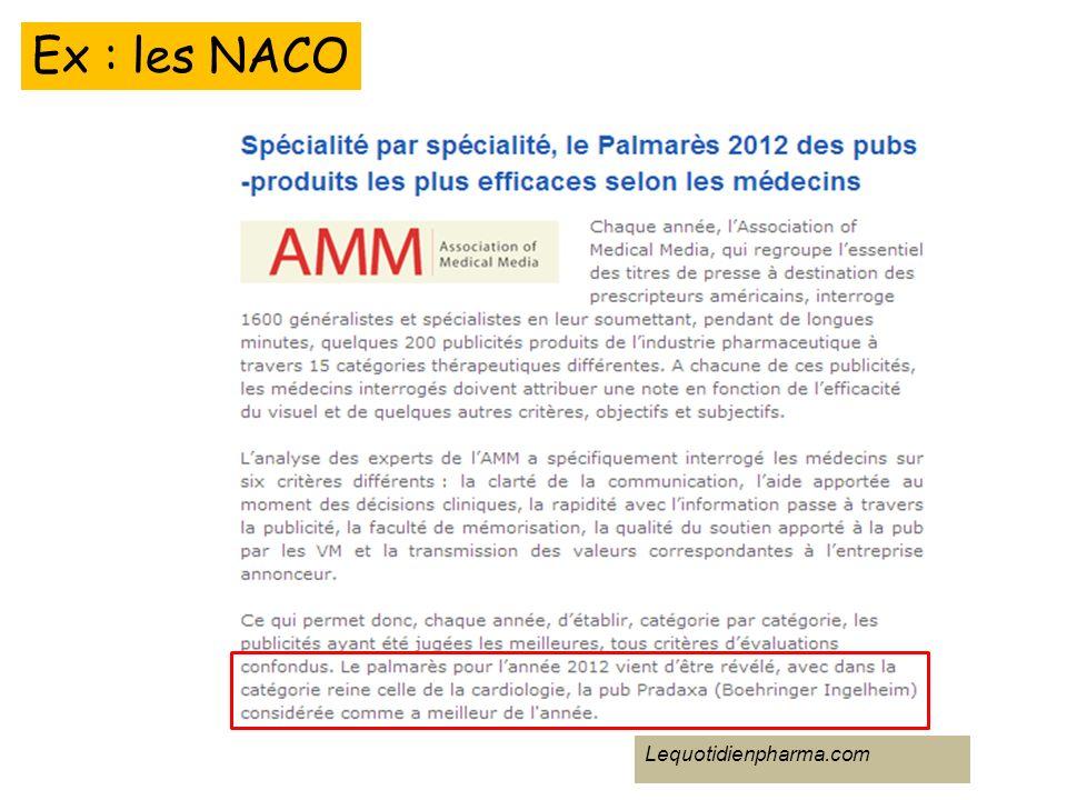 Ex : les NACO Lequotidienpharma.com