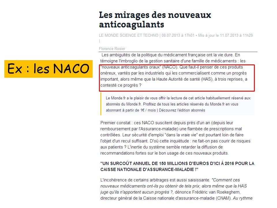 Ex : les NACO