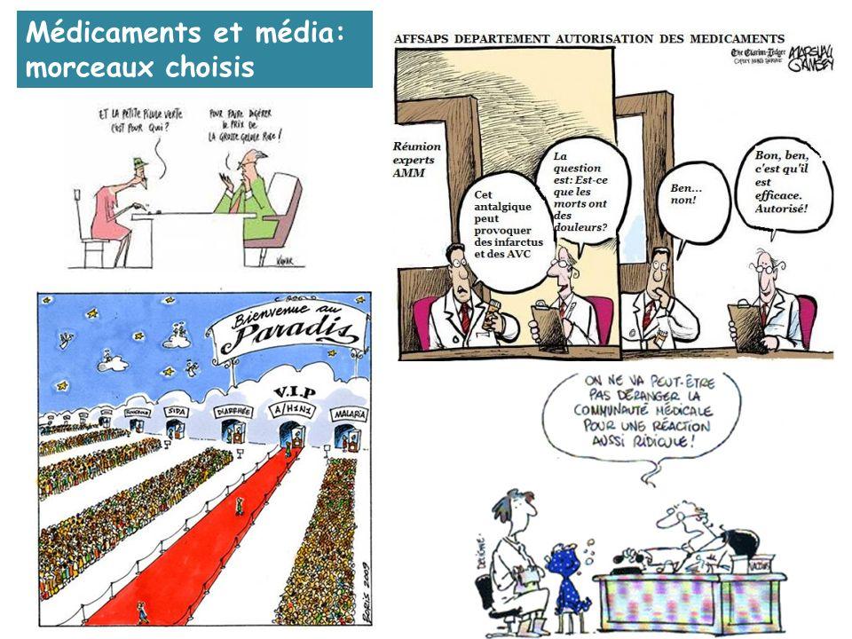 Médicaments et média: morceaux choisis