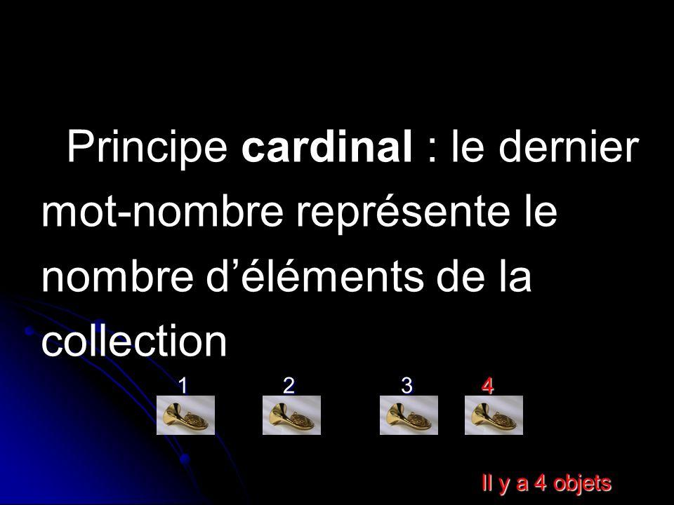 Principe cardinal : le dernier mot-nombre représente le
