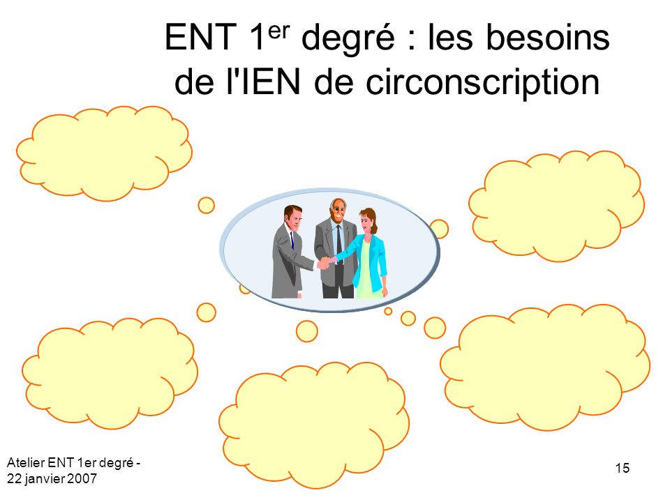 ENT 1er degré : les besoins de l IEN de circonscription