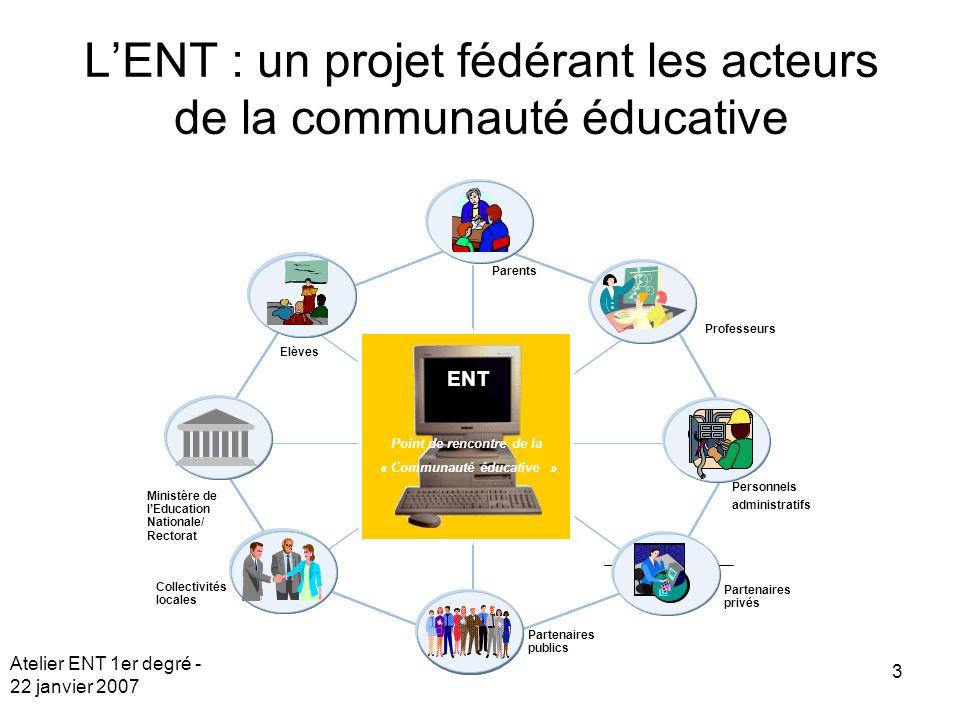 L'ENT : un projet fédérant les acteurs de la communauté éducative