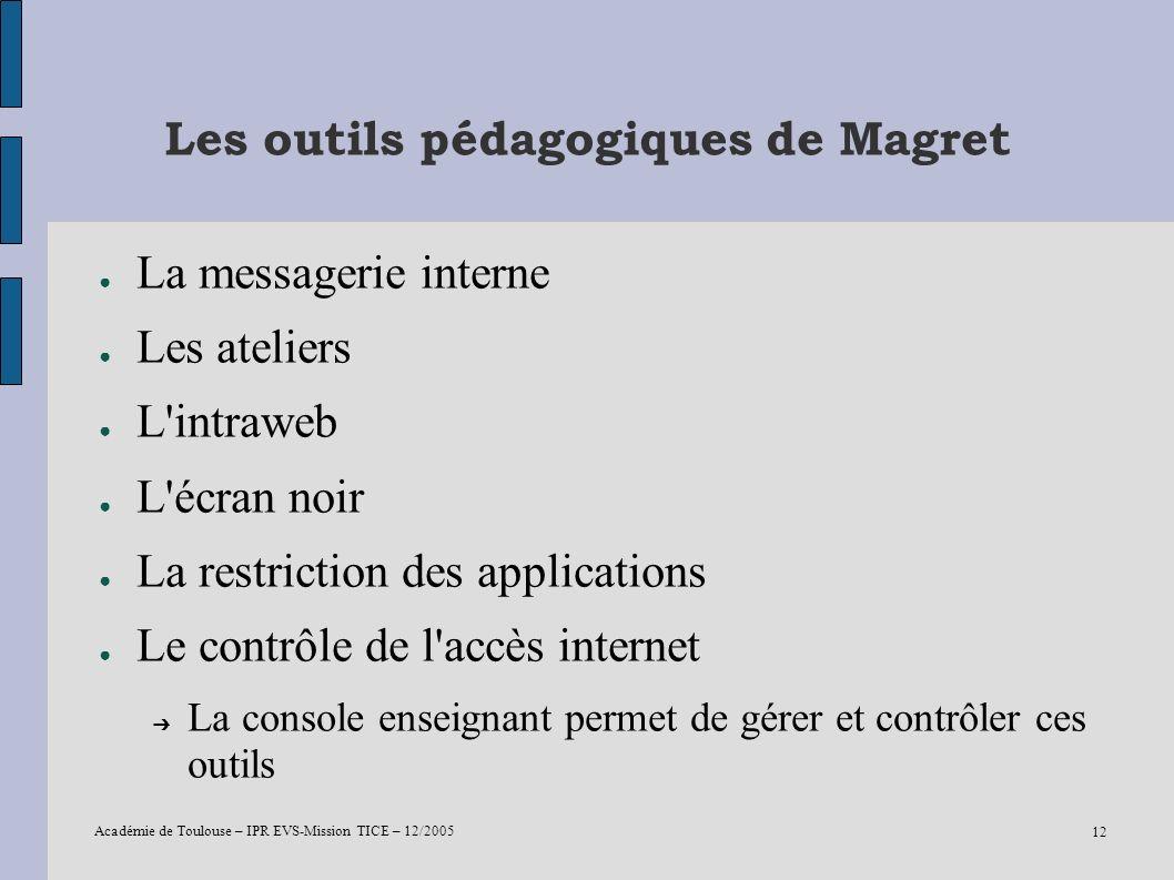 Les outils pédagogiques de Magret