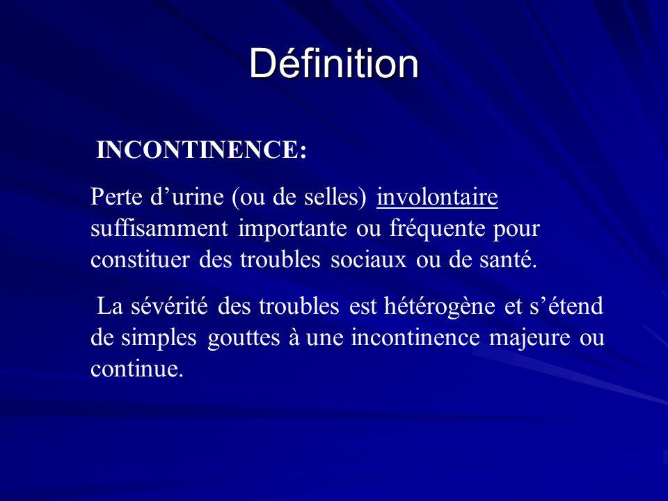 Définition INCONTINENCE: