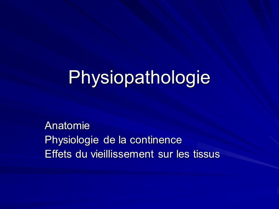 Physiopathologie Anatomie Physiologie de la continence