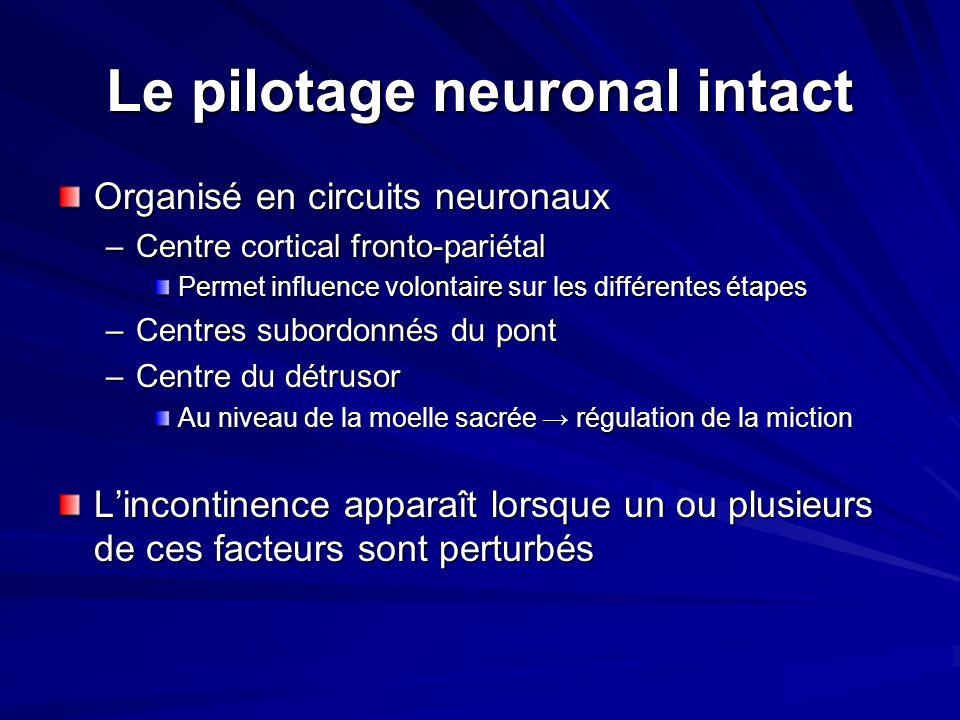 Le pilotage neuronal intact