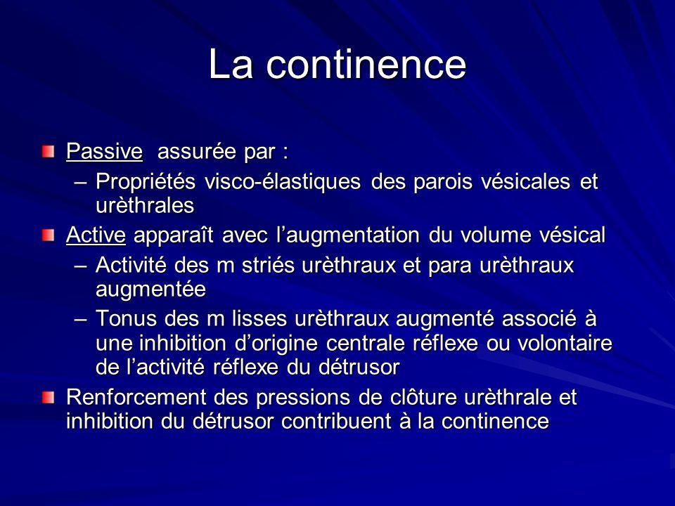 La continence Passive assurée par :