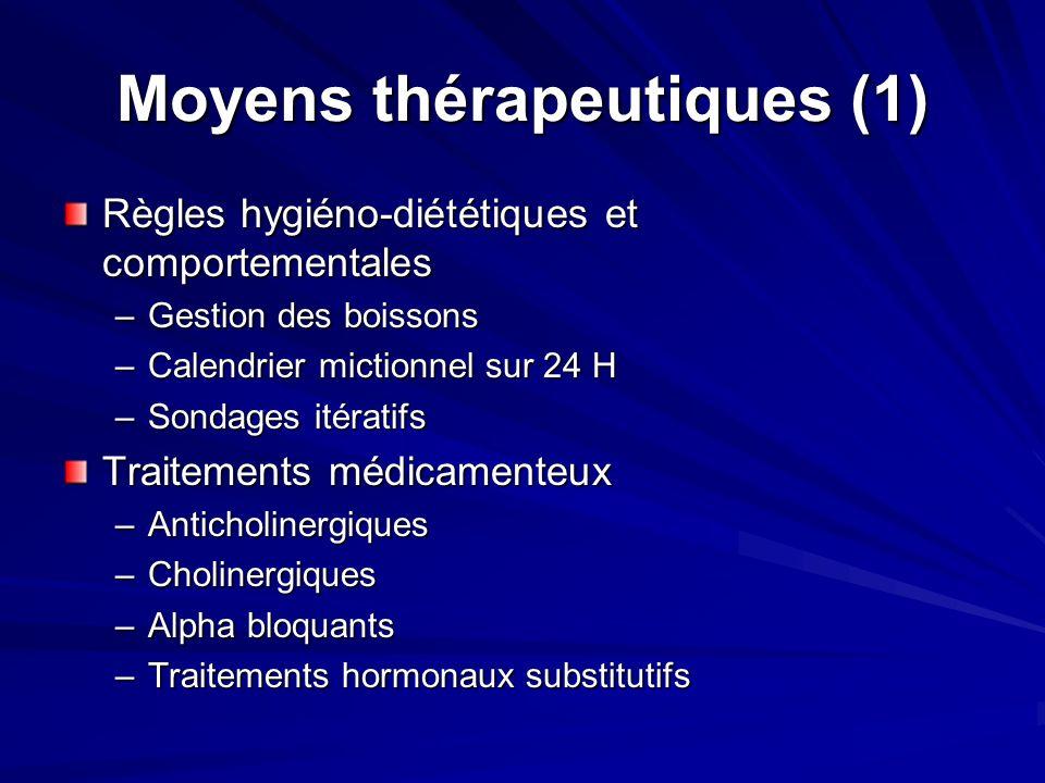 Moyens thérapeutiques (1)
