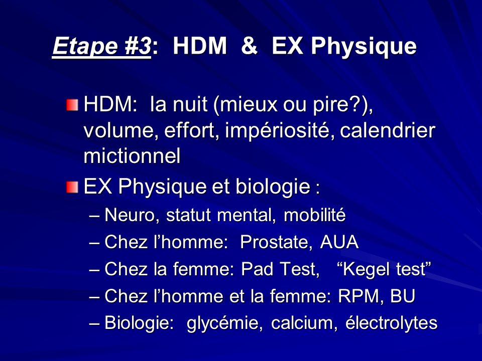 Etape #3: HDM & EX Physique