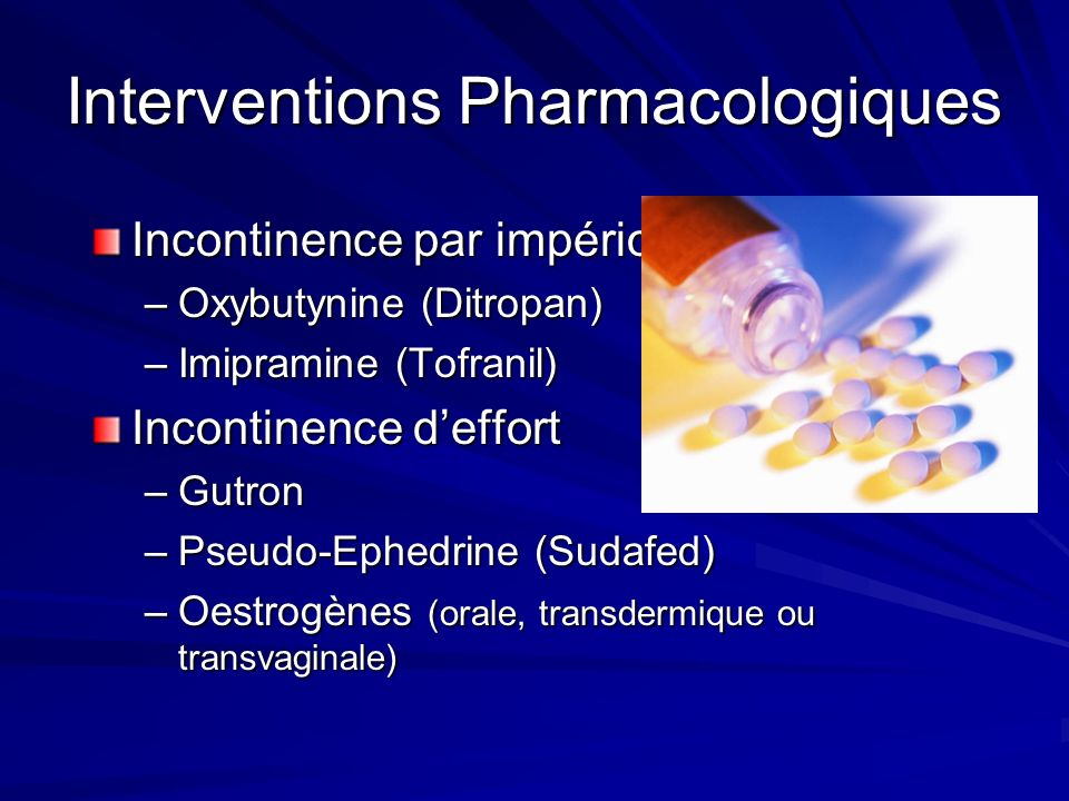 Interventions Pharmacologiques