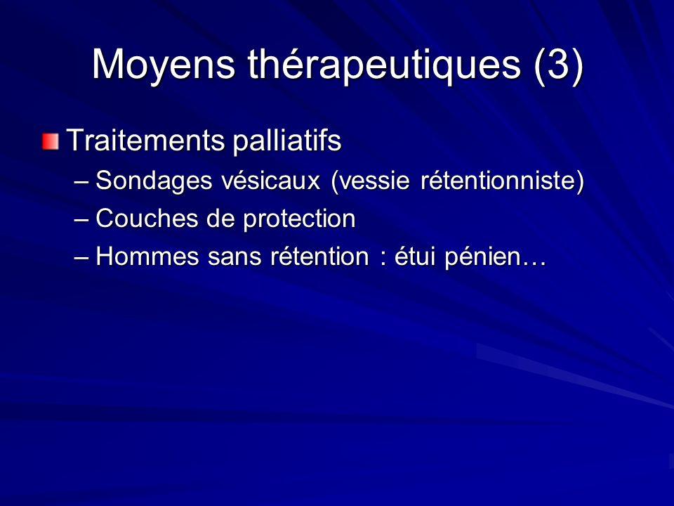 Moyens thérapeutiques (3)