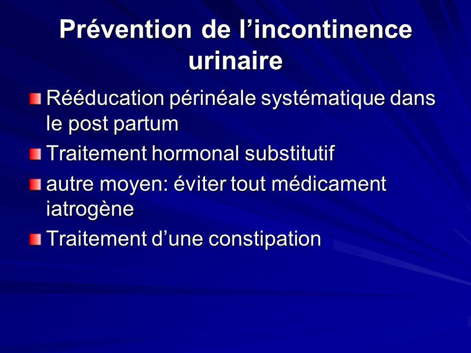 Prévention de l'incontinence urinaire