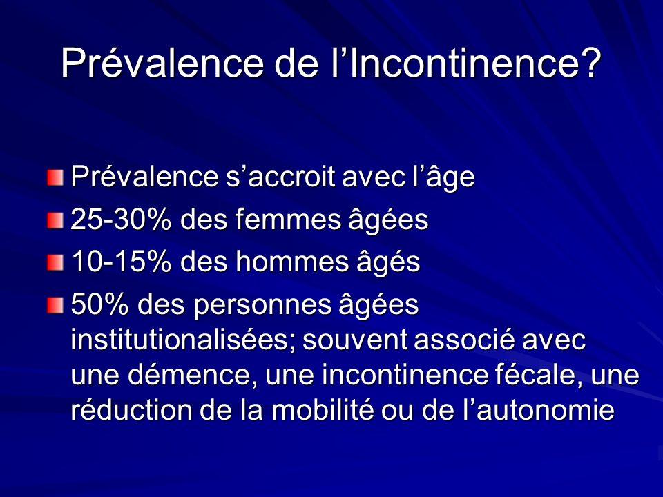 Prévalence de l'Incontinence