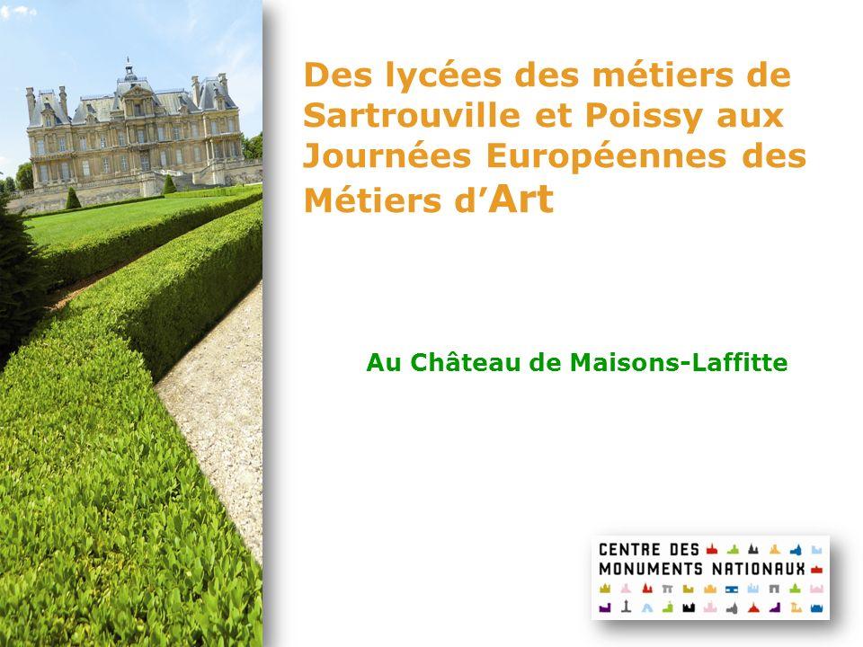 Des lycées des métiers de Sartrouville et Poissy aux Journées Européennes des Métiers d'Art
