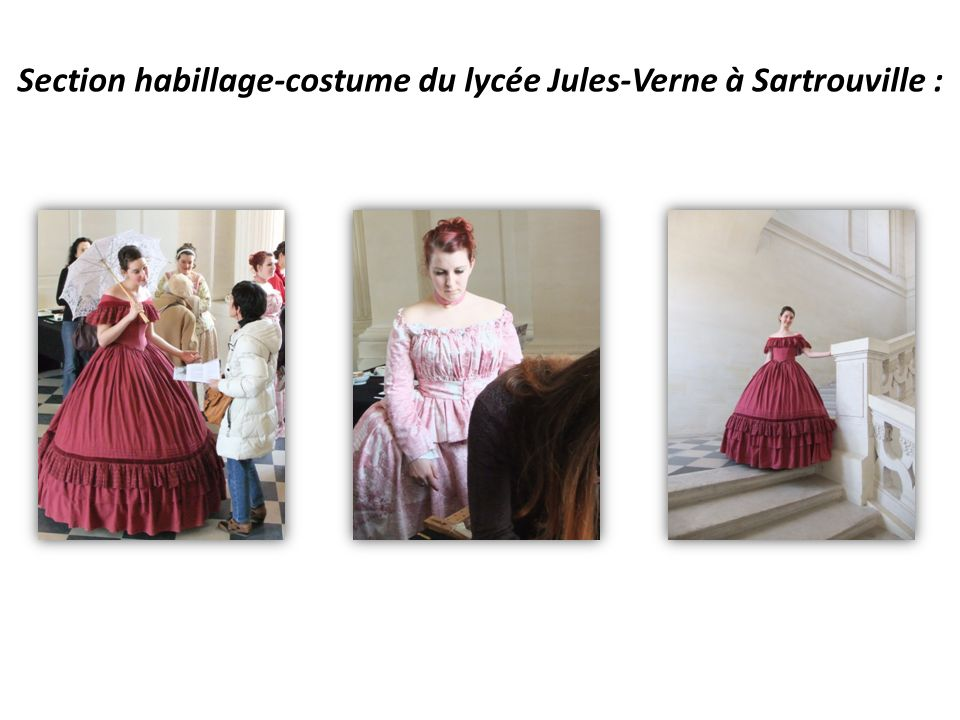 Section habillage-costume du lycée Jules-Verne à Sartrouville :